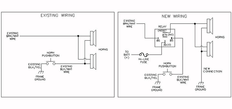 dual horn relay wiring wire center u2022 rh aktivagroup co Ford Horn Relay Wiring 5 Pole Relay Wiring Diagram